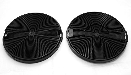 Electrolux 942492436 Filter - Dunstabzugshaube Kohlefilter (Schwarz, Carbon, Zanussi, EFC90151X, EFC60151X, ZHC6131X, 1 Stück)