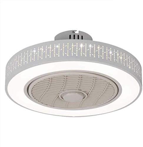 Ventilador de techo con ventilador de luz, LED, velocidad del viento regulable, con mando a distancia, 36 W, lámpara de techo LED