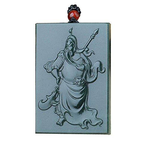 yigedan natur grün Jade zertifiziert Güteklasse A Jade Guan Gong Herren-Halskette Anhänger verstellbar