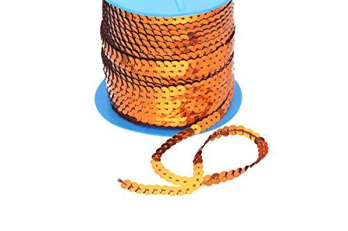 Paillettenband, 5 m 21 verschiedene Farben S-VA, Farben:orange