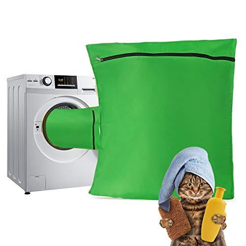 TsunNee - Bolsa de lavandería para mascotas, bolsa de lavado para mascotas, bolsa de lavado para perros, mantas, juguetes, color verde