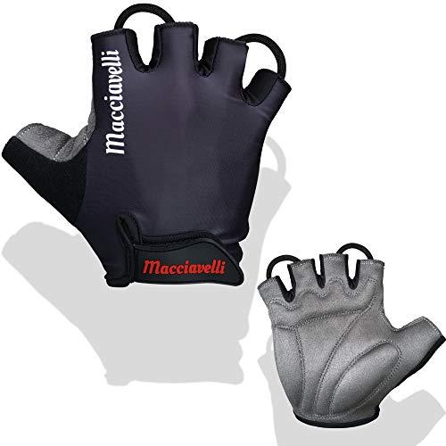 MACCIAVELLI - Fitness Handschuhe für Männer – Trainingshandschuhe ohne Handgelenkstütze für Kraftsport, Crossfit, Gewichtheben und Calisthenics – Fitnesshandschuhe für Männer und Frauen