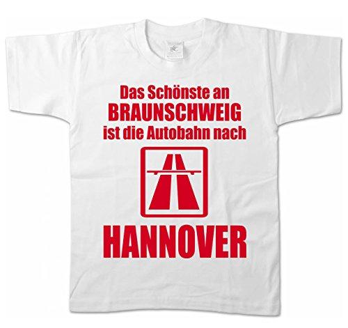 Artdiktat Kinder T-Shirt - Anti Braunschweig 98/104, Weiß