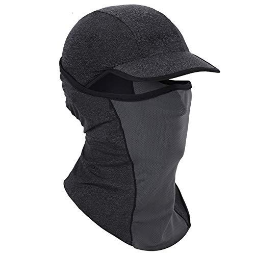 canlan Ice Silk Hood Sonnenschutzmaske, Vollgesichtsmaske, atmungsaktiv, für Radfahren, Outdoor, Sport, Angeln und Radfahren