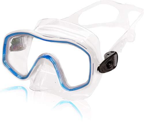 AQUAZON Kids Junior Schnorchelbrille, Taucherbrille, Schwimmbrille, Tauchmaske für Kinder, von 3-7 Jahren, sehr robust, tolle Paßform, Farbe:blau Junior
