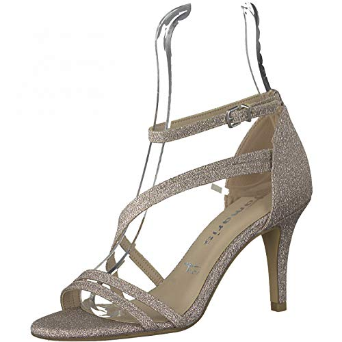 Tamaris Damen Sandaletten, Frauen Sandalen,Touch It-Fußbett,Ladies,Women's,Woman,Sommerschuhe,high,Heels,Stilettos,offene,Space Glam,39 EU / 5.5 UK