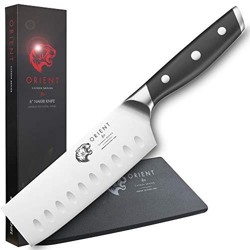 ORIENT Carbon Series - Nakiri Messer, Nakiri, Nakirimesser, Nakiri Küchenmesser Gemüsemesser Gemüsehacker Gemüsebeil (14cm Nakiri)