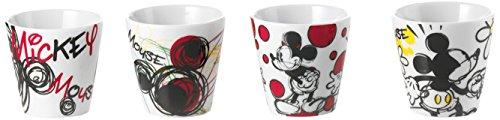 EGAN - Juego de 4 vasos de café con Mickey Mouse
