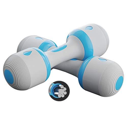 Mancuernas Pesas Brazo, Un par de Dos, Ajustable Peso Home Fitness Equipment, Concha de Seguridad, Entrenamiento de la Fuerza (Color : Blue, Size : 1~5kg*2(4.4~22lb))