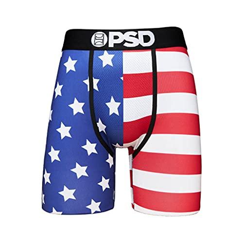 PSD Men's Boxer Brief (Multi/Split Flag, S)
