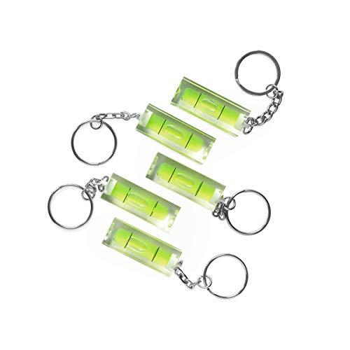 PHOTOLINI 5X Mini-Wasserwaage aus Acrylglas mit Schlüsselanhänger