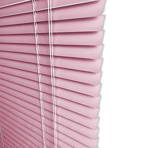 ZXXL Persianas Niñas Sala de Aluminio Persianas Venecianas, Cortina de Ventana de Listones de 25 mm con Kit de Montaje, Rosa, 85cm / 95cm / 105cm / 115cm / 125cm de Ancho (Size : 95×140cm)