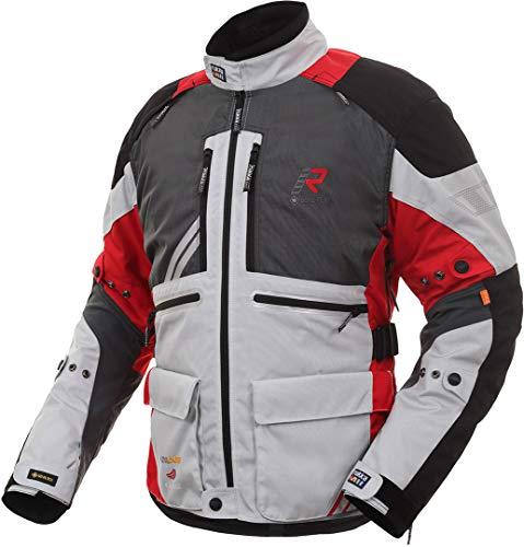 Rukka Offlane Motorrad Textiljacke Grau/Rot 52