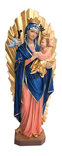 Ferrari & Arrighetti Imagen Virgen del Perpetuo Socorro de Resina Pintada a Mano - 70 cm