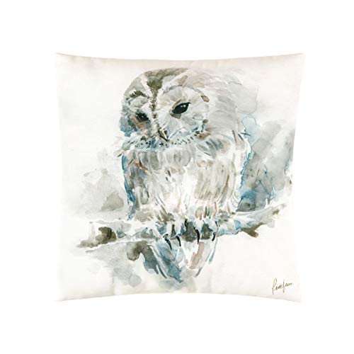 C&F Home Watercolor Owl Pillow Animal Decorative Throw Pillow for Couch Chair Living Room Bedroom 18 x 18 Tan