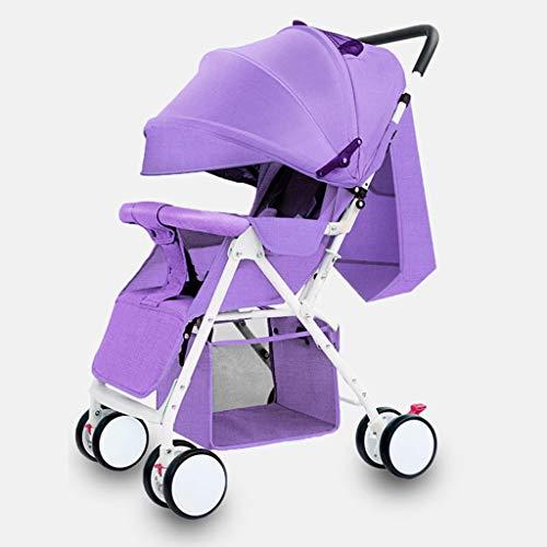 LOMJK Carritos y sillas de Paseo Cochecito De Bebé Cochecito Convertible Funda For Pies Plus Toldo con Una Mano Plegable Canasta De Almacenamiento Grande Carro De Bebé Bebé Sillas de Paseo