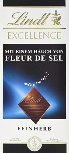 Lindt EXCELLENCE Fleur de Sel, feinherbe Schokolade mit Meersalz, 5er Pack (5 x 100 g)