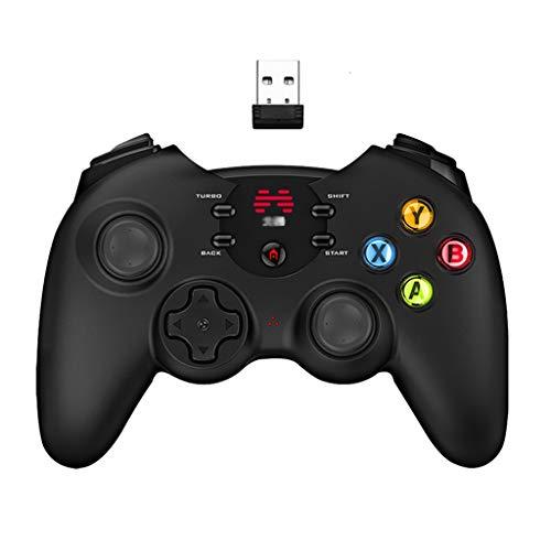 Gamepad Controlador de computadora multijugador Accesorios para Juegos en casa Controlador de Juego Adecuado para Plataformas múltiples Videojuego (Color : Black, Size : 15.6 *...