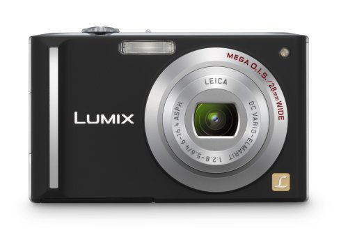 Panasonic Lumix DMC-FX55K 8.1MP Digital Camera with 3.6x Wide Angle MEGA Optical Image Stabilized Zoom (Black)