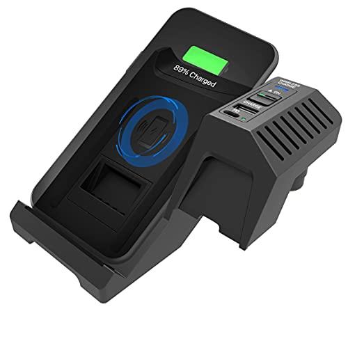 SIGHILL QI - Cargador de teléfono inalámbrico para coche compatible con accesorios Audi (2017-2021) A4, S4, RS4, todos los modelos A5, S5, RS5, todos los modelos (Dock S4)