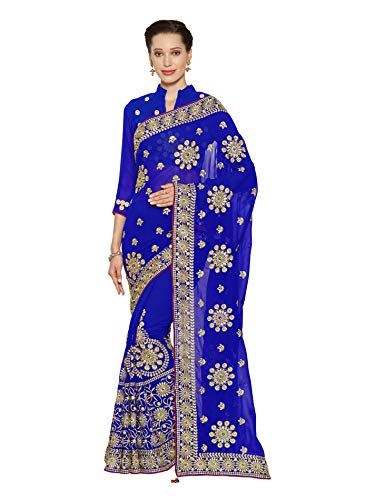 Mirchi Fashion Mirchi Fashion Bollywood Kleider Damen Sari mit Ungesteckt Oberteil/Top Gedruckte Saree