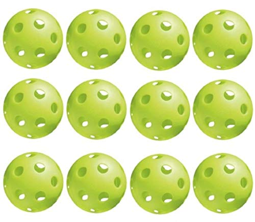 Jugs Sports Pickleballs, Vision Enhanced Green, 1 Dozen