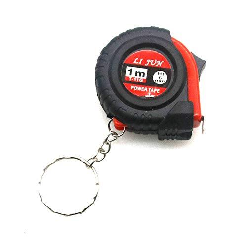 Mini llavero de cinta métrica eléctrica Regla de tracción universal Cinta métrica retráctil Medidor de cinta métrica de 1 m Herramienta de sastre en pulgadas A - 1 m, 4