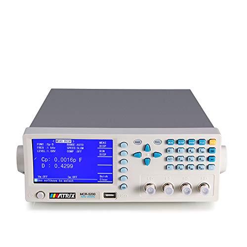 Digital LCR Meter Benchtop Tester for Capacitance Resistance Inductance Measuring 40Hz-200kHz (MCR5200) Matrix