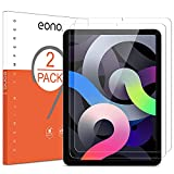 Amazon Brand-Eono [2 piezas] Protector de Pantalla Compatible con iPad Air 4ª Generación (10,9 Pulgadas) y iPad Air 2020, Vidrio Templado,Antiarañazos, Anti-burbujas