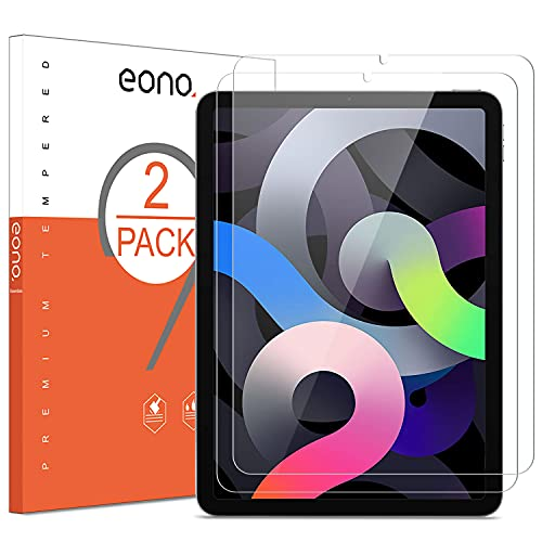 Photo of Amazon Brand-Eono [2 Pack] Screen Protector for 2020 iPad Air 4, Tempered Glass for iPad Air 4th generation(10.9-inch), Bubble Free, Crystal Clarity, Anti Scratch