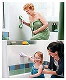 Excellentas mobiler Haltegriff Badewannengriff Duschstange Badewanne Dusche WC Bad mobiler Griff OHNE Bohren Aufstehhilfe Sauggriff Transport für Fliesen Fenster Glas Oberflächen - 3