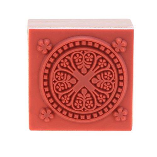 Starnear Vintage Square Houten Bloem Postzegels voor Crafting Card maken DIY Scrapbooking Album Fotokaart Craft 2