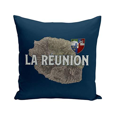 Fabulous Coussin 40x40 cm La Réunion 974 Ile Departement Carte Ancienne France