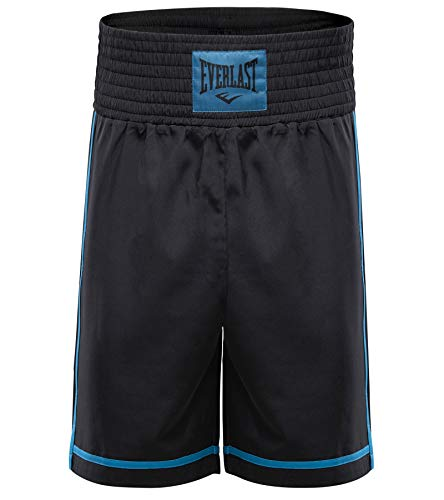Everlast Short de Boxe Cross Noir et Bleu