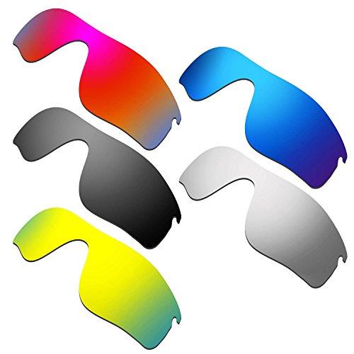 HKUCO Mens Replacement Lenses For Oakley RadarLock Path Red/Blue/Black/24K Gold/Titanium Sunglasses