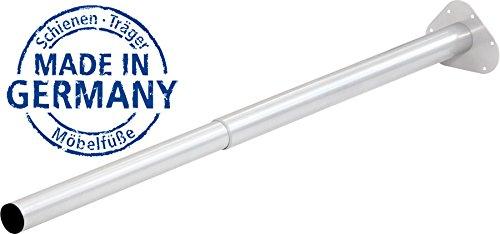 IB-Style - Einzel- Teleskop-Tischbein | ohne Befestigungsschrauben | 6 Variationen | Höhenverstellbar | Ø 50 mm, Form: Rund | Weiss | 60-90 cm