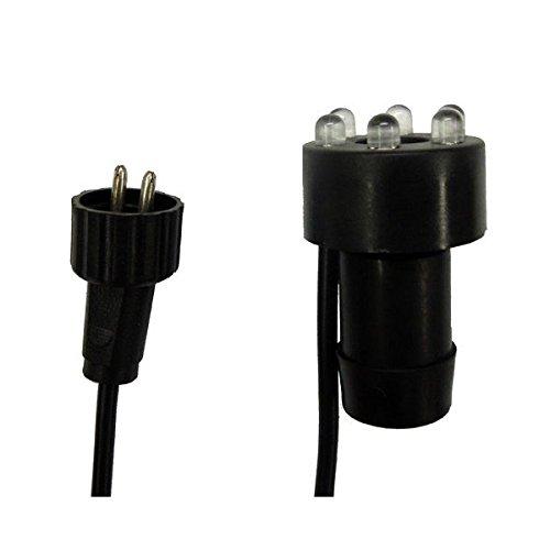 Heissner 3er Set Ersatz LED Ring Ø 30mm für Steinbrunnen Ink.l Moosgummidichtung Brunnenbau kalt/weiß