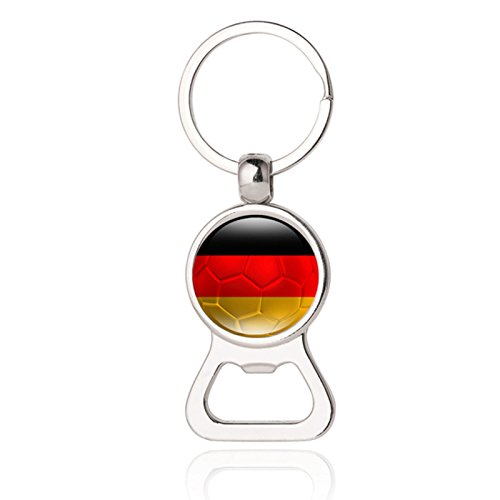 1Flagge Fußball Fans von 32Länder Schlüsselanhänger Flaschenöffner Fußball Fans Geschenk Ideen handgefertigt 9# deutschland