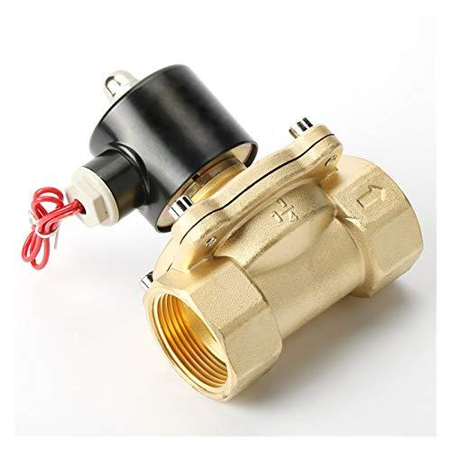 JCMY Válvula, Válvula Solenoide 1/4' 3/8' 1/2' 3/4' 1' 2' de latón válvula solenoide eléctrico Normalmente Cerrado Válvula de solenoide for el Agua del Aceite del Aire con Agua, Aire, etc.