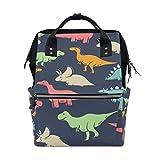 Funny Cartoon Dinosaur School Backpack Bookbag Travel Shoulder Stylish Large Capacity Diaper Bags