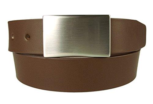 Belt Designs Taille 86.5-96.5 cm (M) – Marron - Ceinture en cuir de qualité pour Homme Fabriqué au Royaume-Uni – (0029)