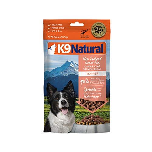 K9 Natural Grain-Free Freeze Dried Dog Food Topper or Meal Mixer, Lamb & Salmon 3.5oz