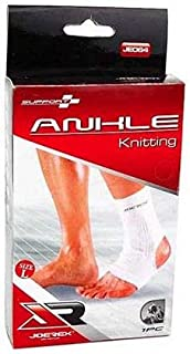 Joerex 1461 Elastic Ankle Support - White, Large