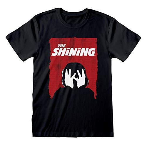 The Shining Affiche de Film T-Shirt Homme Noir 5XL | S-circuitent, Horreur Halloween Stephen King Ras du Cou Graphic Tee, Anniversaire Idée Cadeau pour Les Gars, pour la Maison ou Gym