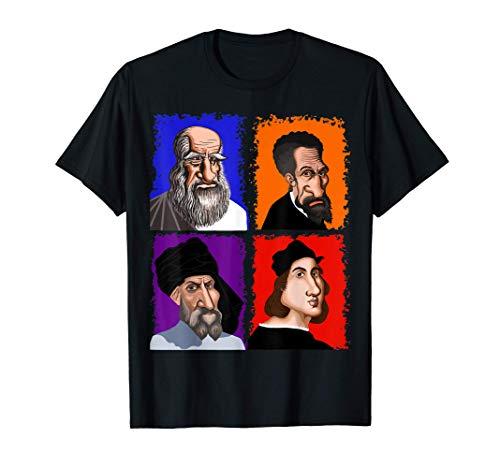Leonardo Donatello Miguel Ángel Rafael Artistas Camiseta