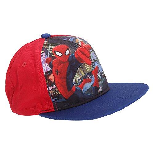 Gorras infantiles de Capitán América (Marvel Comics) rojo negro Talla única