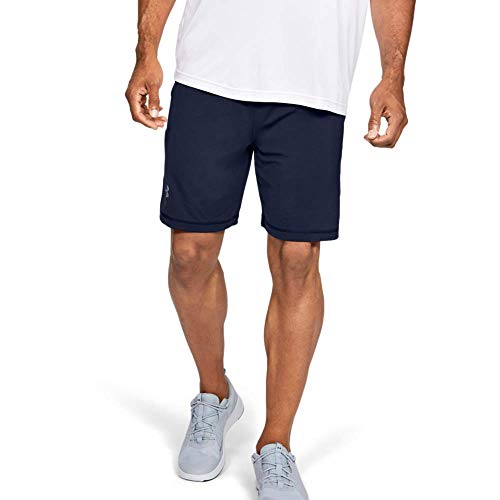 Under Armour UA Raid 8 Shorts, Pantaloni Corti Uomo, NavyBlu (Midnight Navy/Steel 410), L