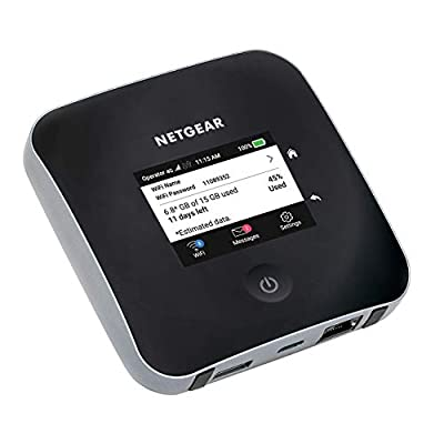 NETGEAR Nighthawk M2 Mobile Hotspot 4G LTE Router MR2100 - Download Speeds of up 2 Gbps, Wi-Fi Connect Up to 20 Devices, Create a WLAN Anywhere, Unlocked to Use Any SIM Card