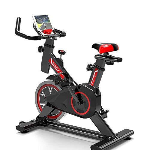 XIUQI Bicicleta Estática Plegable,Moderna Pantalla LED De Pilas, Bicicleta Fitness con 8 Niveles De Resistencia, Inicio Entrenador De Ciclismo para Interiores Equipo De Fitness,Negro