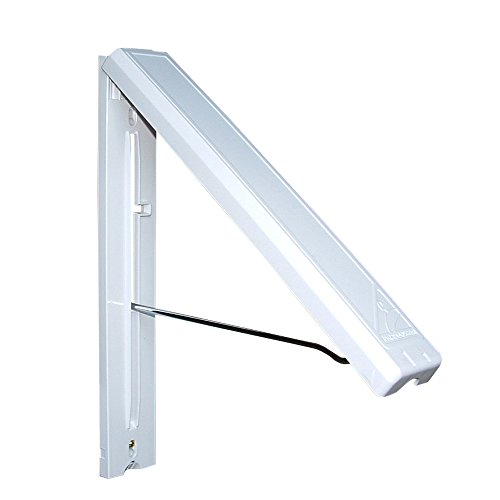 InstaHANGER AH12/M White - Folding Collapsible Wall Mounted Clothes Storage/Drying Rack